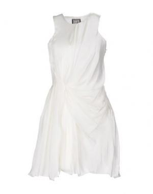 Короткое платье FAUSTO PUGLISI. Цвет: белый