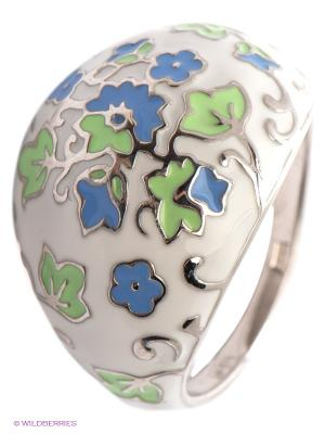 Кольцо SOKOLOV. Цвет: молочный, синий, салатовый, серебристый