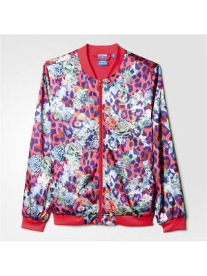 Толстовка  J SROSE SATIN Adidas. Цвет: розовый
