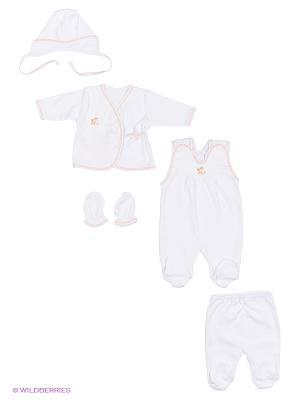 Комплект одежды Три ползунка. Цвет: персиковый