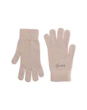 Перчатки GUESS. Цвет: голубиный серый