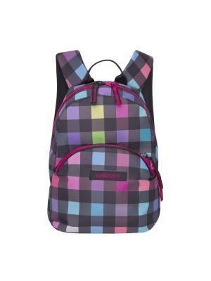 Рюкзак Grizzly. Цвет: темно-фиолетовый, голубой, розовый