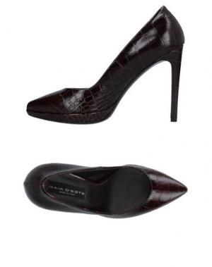 Туфли GAIA D'ESTE. Цвет: темно-коричневый