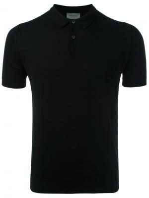 Рубашка-поло John Smedley. Цвет: чёрный