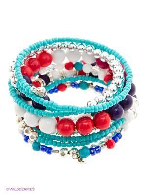 Браслет Infinity Lingerie. Цвет: фиолетовый, белый, голубой, красный, серебристый, синий