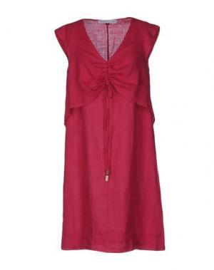 Короткое платье LA FABBRICA del LINO. Цвет: фуксия