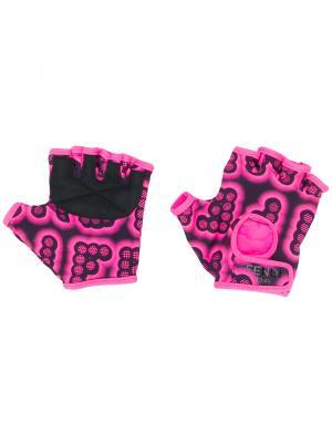 Перчатки-митенки Fendi. Цвет: розовый и фиолетовый
