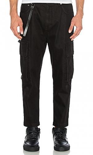 Укороченные джинсы карго Helmut Lang. Цвет: none