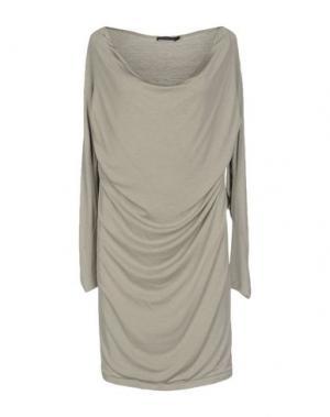 Короткое платье DONNA KARAN. Цвет: серый