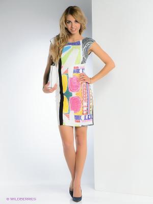 Платье FRENCH HINT. Цвет: белый, черный, розовый, желтый