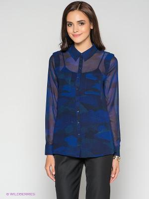 Блузка MEXX. Цвет: темно-синий