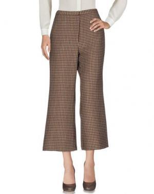 Повседневные брюки ROSETTA GETTY. Цвет: коричневый