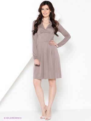 Платье V&V. Цвет: светло-коричневый
