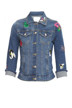 Джинсовая куртка 168337 Alina German. Цвет: синий