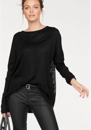 Пуловер MELROSE. Цвет: черный