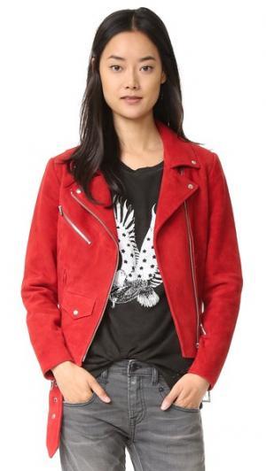 Замшевая куртка Jayne VEDA. Цвет: оранжевый