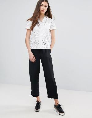 YMC Укороченные строгие брюки. Цвет: черный