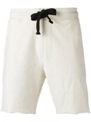 Шорты-бермуды с карманами по бокам Osklen. Цвет: телесный