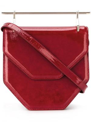 Маленькая сумка-тоут Amorfati M2malletier. Цвет: красный
