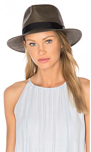Шляпа федора presley Brixton. Цвет: коричневый