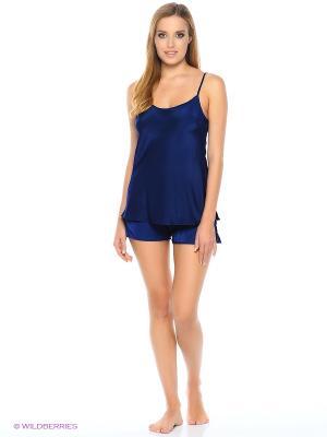 Комплект пижамный Deseo. Цвет: темно-синий