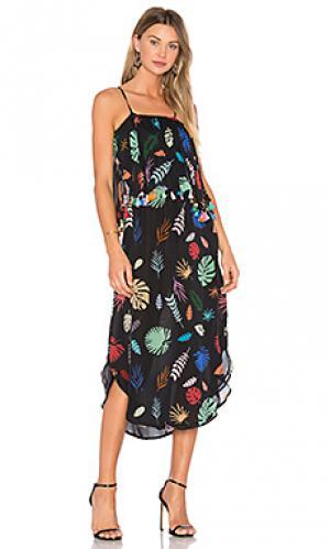 Платье с кисточками Carolina K. Цвет: черный