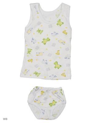 Комплект белья Babycollection. Цвет: салатовый, белый