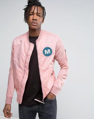 Maharishi Бомбер розового цвета MA1. Цвет: розовый