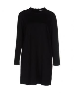 Короткое платье LAMBERTO LOSANI. Цвет: черный