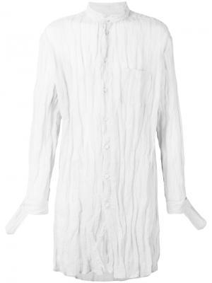 Длинная рубашка с воротником-мандарин Yang Li. Цвет: телесный