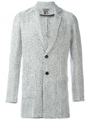Твидовый пиджак Tony Cohen. Цвет: белый