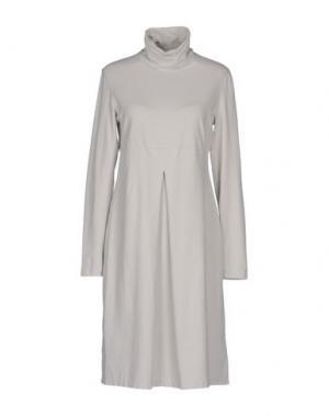 Платье до колена EUROPEAN CULTURE. Цвет: светло-серый