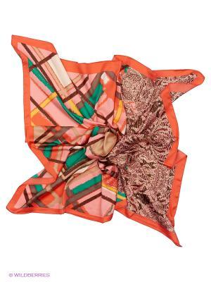 Платок Sabellino. Цвет: коралловый, розовый, зеленый