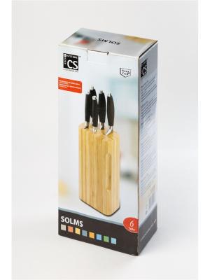 Набор ножей SOLMS, 6 предметов Koch Systeme. Цвет: черный, серебристый