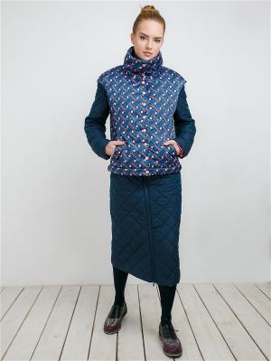 Пальто MAYAMODA. Цвет: темно-синий, синий