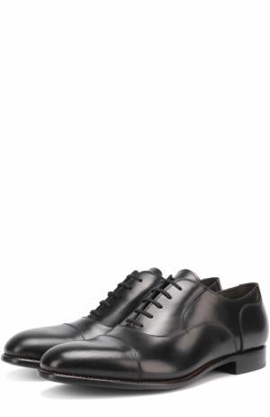Классические кожаные оксфорды Rocco P.. Цвет: черный