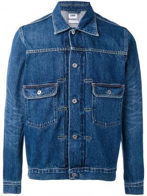 Джинсовая куртка Edwin. Цвет: синий