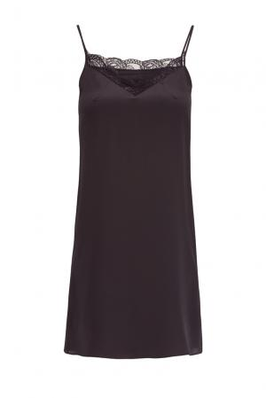Платье-комбинация из шелка 159242 Mari Axel. Цвет: черный