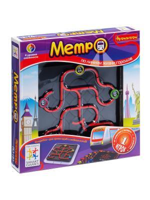 Логическая игра Bondibon Метро, арт.SG 320  RU. Цвет: серый, красный, черный