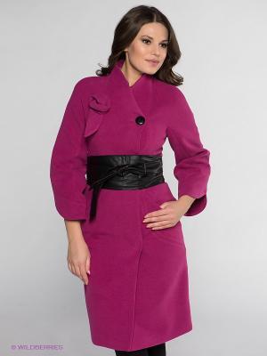 Пальто Klimini. Цвет: малиновый