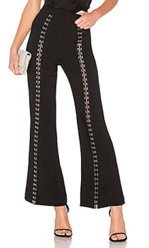 Широкие брюки all hooked up NBD. Цвет: черный