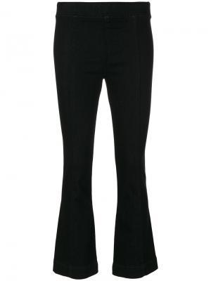 Укороченные брюки клеш Helmut Lang. Цвет: чёрный