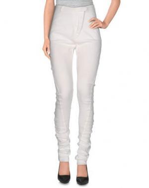 Повседневные брюки NOSTRASANTISSIMA. Цвет: белый