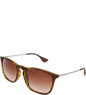 Солнцезащитные очки с градиентными линзами Ray Ban. Цвет: коричневый