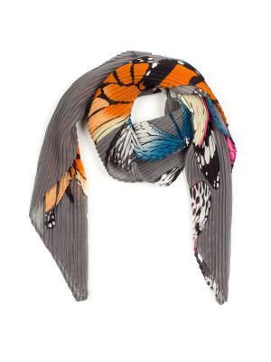Платок Pretty Mania. Цвет: серый, голубой, оранжевый