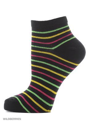 Укороченные носки с рисунком (3 пары) HOSIERY. Цвет: черный
