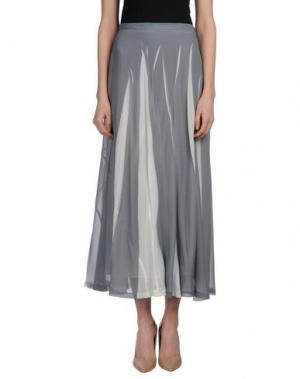 Длинная юбка ALYSI. Цвет: серый