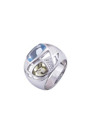 Кольцо Мастер Клио. Цвет: серебристый, золотистый, голубой