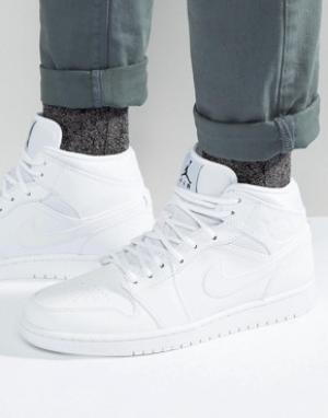 Jordan Белые кроссовки Nike Air 1 554724-110. Цвет: белый