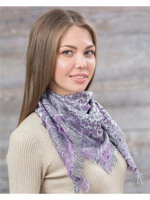 Платок Shapkoff. Цвет: фиолетовый, белый, серебристый